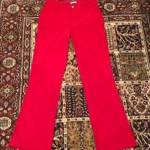 Pants - Red Bootcut Flare Pants Size 5
